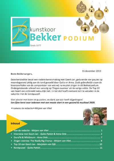 Bekkerpodium 14-2019