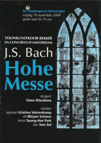Bach Hohe Messe 11-2004
