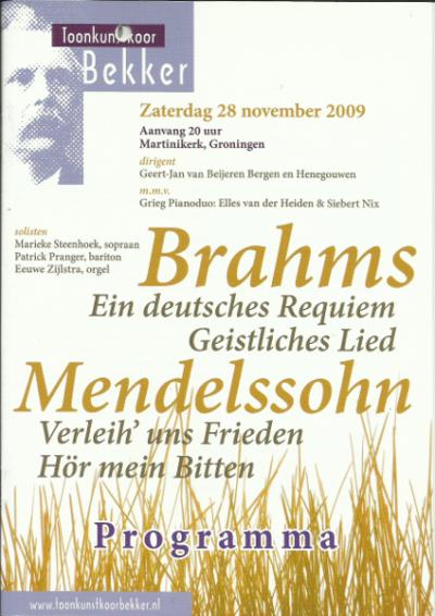 Brahms & Mendelssohn 11-2009