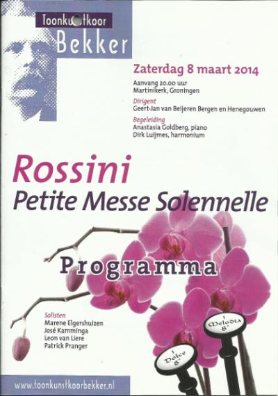 Rossini Petite Messe Solennelle 03-2014